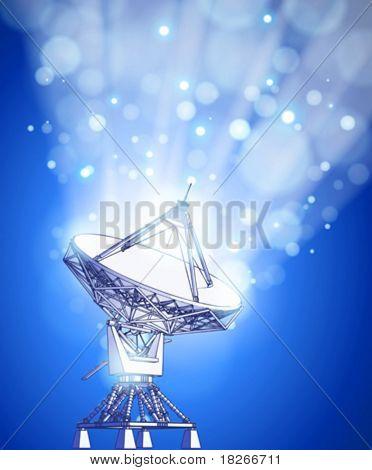 satellite dishes antenna - doppler radar