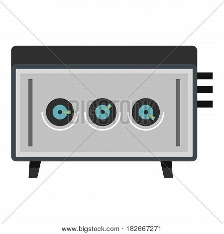 CD player icon flat isolated on white background vector illustration