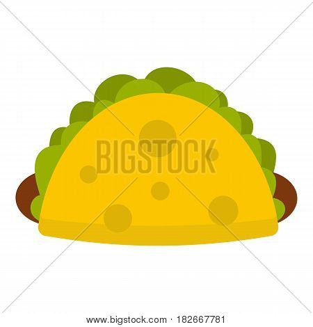 Tortilla wrap with vegetables icon flat isolated on white background vector illustration
