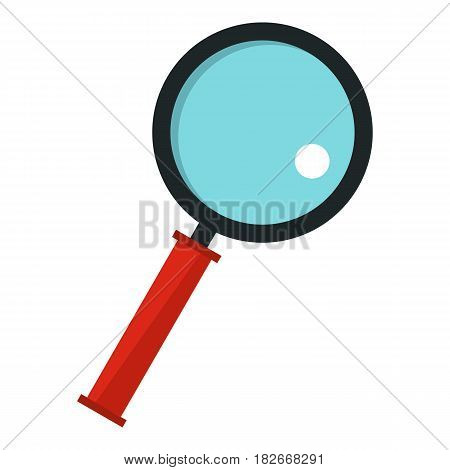 Magnifying glass icon flat isolated on white background vector illustration