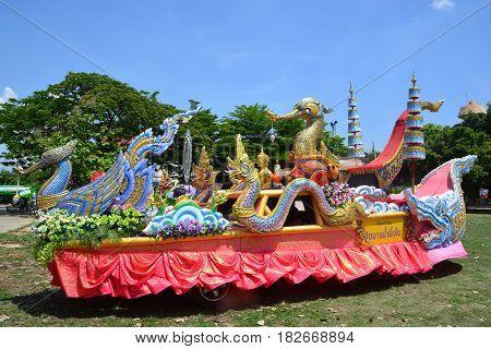 Samut PrakanThailand-APRIL 142017: Songkran Festival in the Thai-Mon style Songkran Festival at Bang Nam Phueng Phra Pradaeng