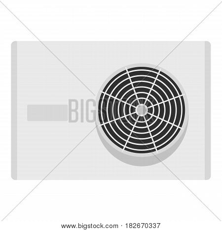 Air conditioner compressor unit icon flat isolated on white background vector illustration