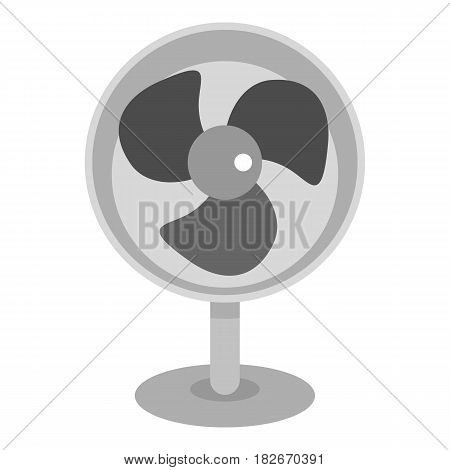 Retro electric fan icon flat isolated on white background vector illustration