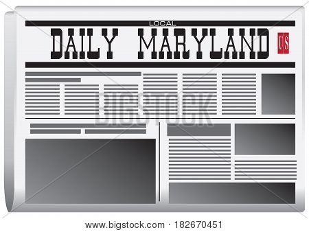 A fictional newspaper for Maryland in the US Daily Maryland