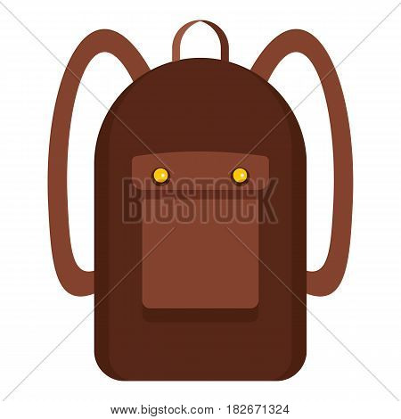 Backpack icon flat isolated on white background vector illustration