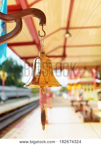 The Bell Is At The Station Hua Hin In Thailand.