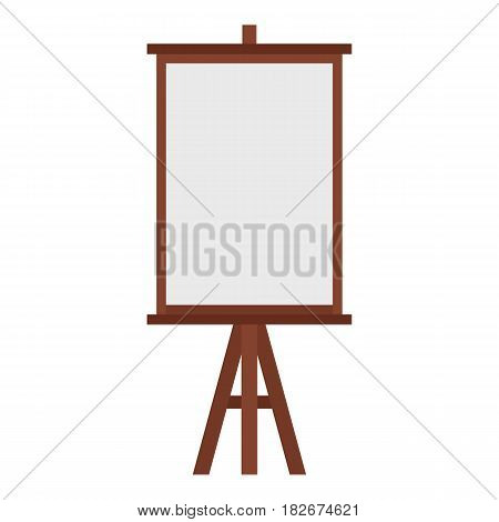 Easel icon flat isolated on white background vector illustration