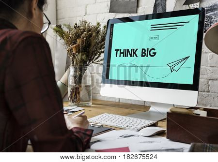 Think Big Paper Plane Ideas Creative