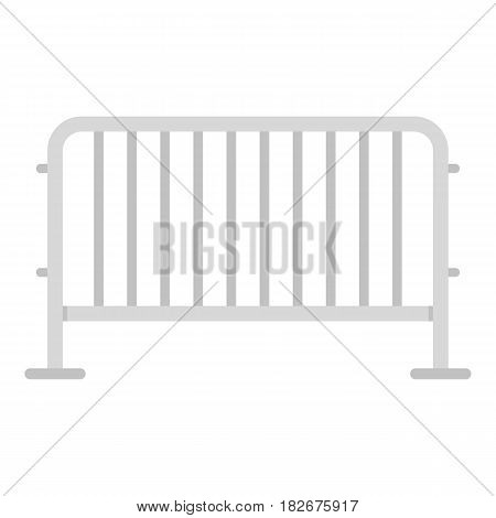 Steel barrier icon flat isolated on white background vector illustration
