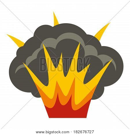 Projectile explosion icon flat isolated on white background vector illustration