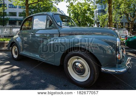 BERLIN - JUNE 05 2016: Subcompact car Morris Minor 1000 1960. Classic Days Berlin 2016.
