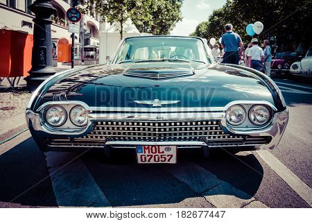 BERLIN - JUNE 05 2016: Personal luxury car Ford Thunderbird (third generation). Lowrider. Toning. Stylization. Classic Days Berlin 2016.