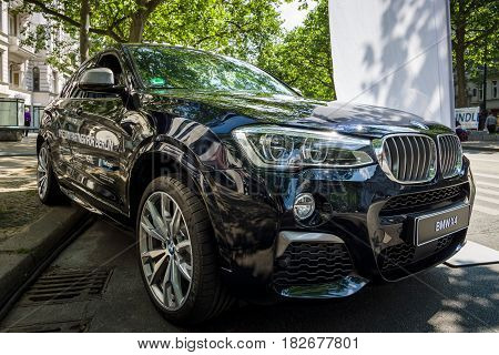 BERLIN - JUNE 05 2016: Compact luxury crossover SUV BMW X4. Classic Days Berlin 2016.
