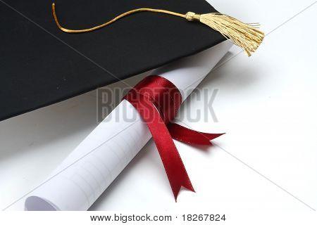 Grad hat and Diploma
