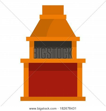 Barbecue gas grill icon flat isolated on white background vector illustration