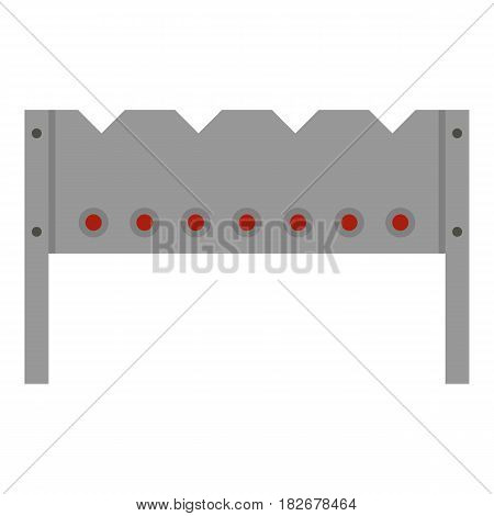 Steel brazier icon flat isolated on white background vector illustration