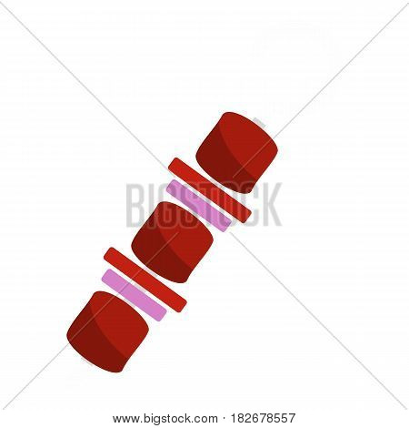 Barbecue kebab on skewer icon flat isolated on white background vector illustration