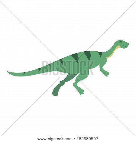 Gallimimus dinosaur icon flat isolated on white background vector illustration