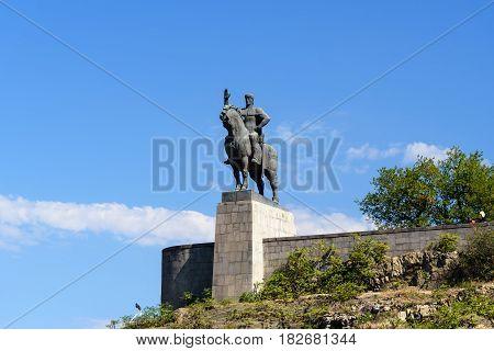 Statue Of King Vakhtang Gorgasali In Tbilisi, Georgia