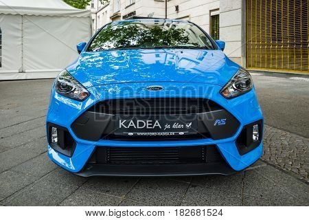 BERLIN - JUNE 05 2016: Compact car Ford Focus RS (third generation). Classic Days Berlin 2016.