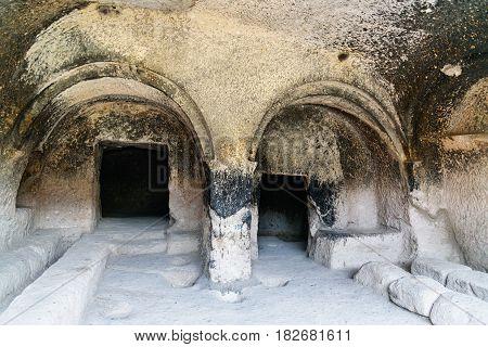 The Refectory In Vardzia Cave Monastery. Georgia