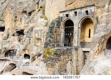 Church Of The Dormition In Vardzia Cave Monastery. Georgia