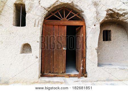 Entrance To Cave In Vardzia Cave Monastery. Georgia