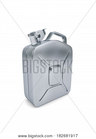 Fuel canister isolated on white. clipping path. 3d rendering