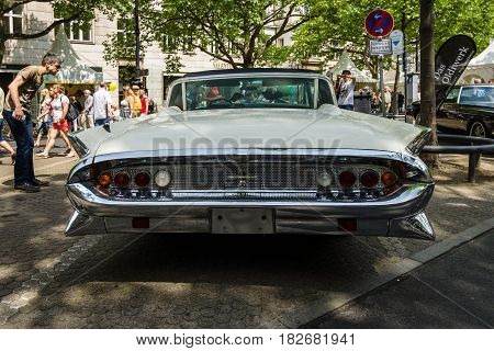 BERLIN - JUNE 05 2016: Full-size luxury car Lincoln Continental Mk III. Rear view. Classic Days Berlin 2016.