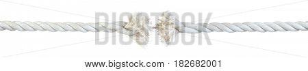 Rope fraying isolated on white