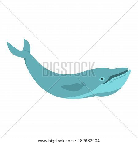 Blue whale icon flat isolated on white background vector illustration