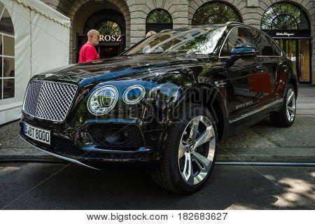 BERLIN - JUNE 05 2016: Ultra luxury crossover SUV Bentley Bentayga 2016. Classic Days Berlin 2016.