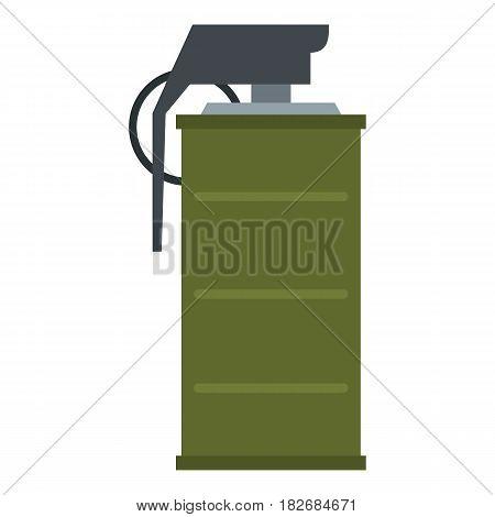 Smoke grenade icon flat isolated on white background vector illustration