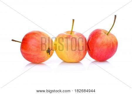 dwarf apples isolated on the white background
