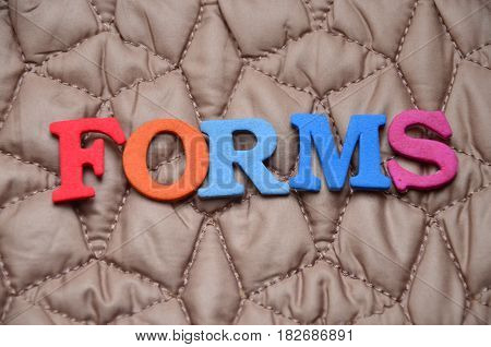 word forms on a  abstract colorful background