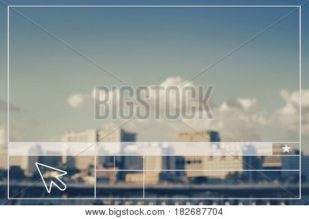 Cityscape Create Website Layout Blank Banner
