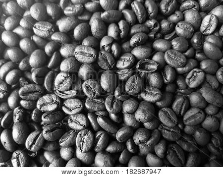 coffe background black white color natural texture