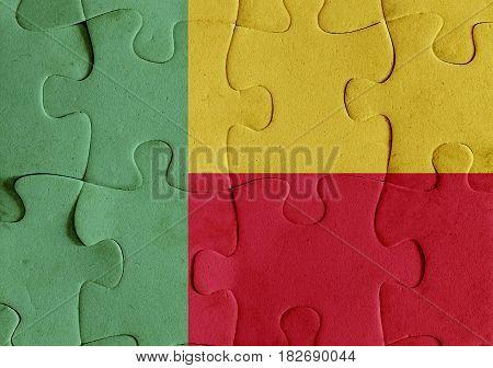 Benin Flag Puzzle