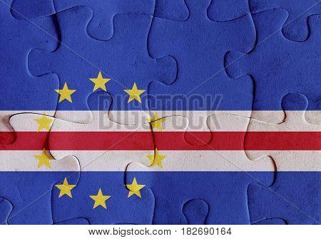 Republic Of Cape Verde Flag Puzzle