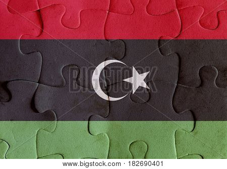 Libya Flag Puzzle