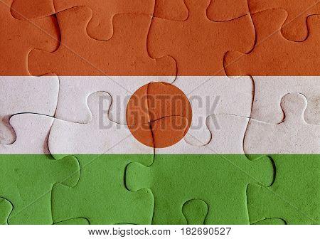 Republic Of Niger Flag Puzzle