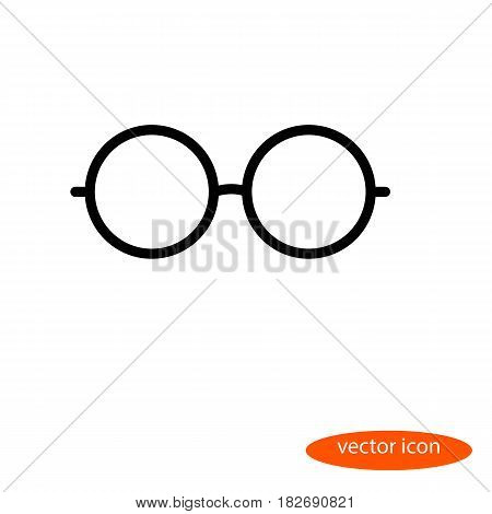 Simple vector linear image of glasses line icon flat style.