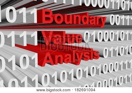 Boundary value analysis as a binary code 3D illustration