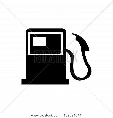 Flat Black Gasoline Filler Icon