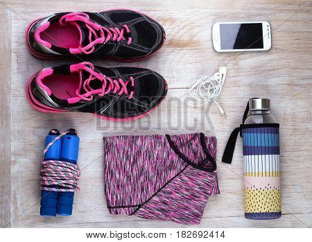 Sport Equipment On Floor