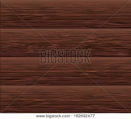 Dark wooden texture. Vector illustration. Parquet element. Redwood.
