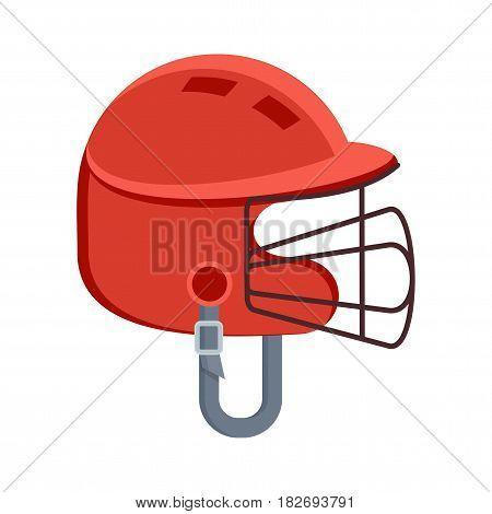 Red Protective Baseball Helmet