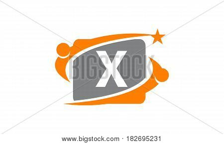 This vector describe about Career Coaching Initial X