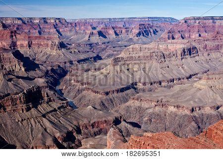 The Colorado River winds through Arizona's Grand Canyon