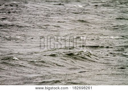 Image of gloomy excitement in the middle of the sea in cloudy weather